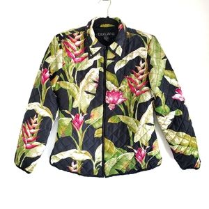 Silkland Quilted Floral Jacket
